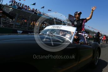 World © Octane Photographic Ltd. Formula 1 – Australian GP Drivers' parade. SportPesa Racing Point RP19 - Sergio Perez. Melbourne, Australia. Sunday 17th March 2019.