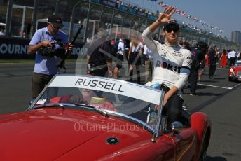World © Octane Photographic Ltd. Formula 1 – Australian GP Drivers' parade. ROKiT Williams Racing FW42 – George Russell. Melbourne, Australia. Sunday 17th March 2019.