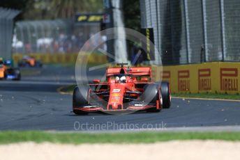 World © Octane Photographic Ltd. Formula 1 – Australian GP Practice 1. Scuderia Ferrari SF90 – Sebastian Vettel and McLaren MCL34 – Lando Norris and Carlos Sainz. Friday 15th Melbourne, Australia. Friday 15th March 2019.