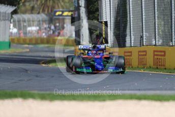 World © Octane Photographic Ltd. Formula 1 – Australian GP Practice 1. Scuderia Toro Rosso STR14 – Daniil Kvyat. Friday 15th Melbourne, Australia. Friday 15th March 2019.