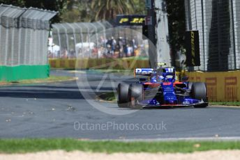 World © Octane Photographic Ltd. Formula 1 – Australian GP Practice 1. Scuderia Toro Rosso STR14 – Alexander Albon. Friday 15th Melbourne, Australia. Friday 15th March 2019.