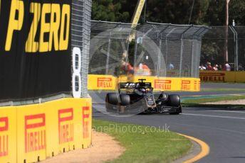 World © Octane Photographic Ltd. Formula 1 – Australian GP Practice 1. Rich Energy Haas F1 Team VF19 – Romain Grosjean. Friday 15th Melbourne, Australia. Friday 15th March 2019.