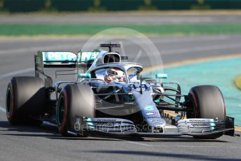 World © Octane Photographic Ltd. Formula 1 – Australian GP Practice 2. Mercedes AMG Petronas Motorsport AMG F1 W10 EQ Power+ - Lewis Hamilton. Friday 15th Melbourne, Australia. Friday 15th March 2019.