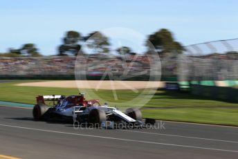 World © Octane Photographic Ltd. Formula 1 – Australian GP Practice 2. Alfa Romeo Racing C38 – Kimi Raikkonen. Friday 15th Melbourne, Australia. Friday 15th March 2019.