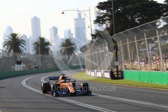 World © Octane Photographic Ltd. Formula 1 – Australian GP Qualifying. McLaren MCL34 – Carlos Sainz. Melbourne, Australia. Saturday 16th March 2019.