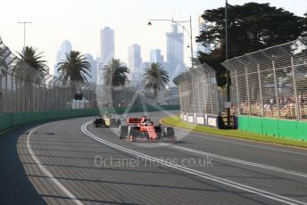 World © Octane Photographic Ltd. Formula 1 – Australian GP Qualifying. Scuderia Ferrari SF90 – Sebastian Vettel and Renault Sport F1 Team RS19 – Nico Hulkenberg.  Melbourne, Australia. Saturday 16th March 2019.