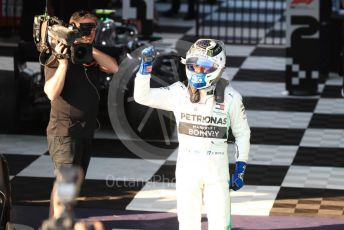 World © Octane Photographic Ltd. Formula 1 – Australian GP Parc Ferme. Mercedes AMG Petronas Motorsport AMG F1 W10 EQ Power+ - Valtteri Bottas. Melbourne, Australia. Sunday 17th March 2019.