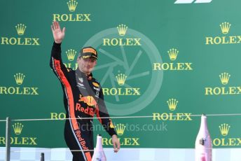 World © Octane Photographic Ltd. Formula 1 – Australian GP Podium. Aston Martin Red Bull Racing RB15 – Max Verstappen. Melbourne, Australia. Sunday 17th March 2019.