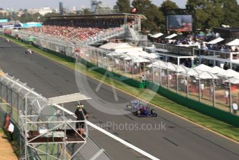 World © Octane Photographic Ltd. Formula 1 – Australian GP Race. Scuderia Toro Rosso STR14 – Alexander Albon. Melbourne, Australia. Sunday 17th March 2019.