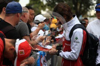 World © Octane Photographic Ltd. Formula 1 – Australian GP Melbourne Walk. Alfa Romeo Racing C38 – Antonio Giovinazzi. Friday 15th Melbourne, Australia. Friday 15th March 2019.