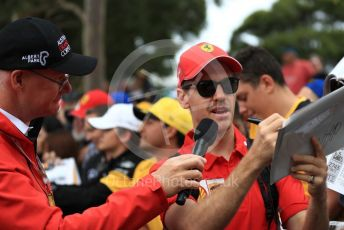 World © Octane Photographic Ltd. Formula 1 – Australian GP Melbourne Walk. Scuderia Ferrari SF90 – Sebastian Vettel. Friday 15th Melbourne, Australia. Friday 15th March 2019.