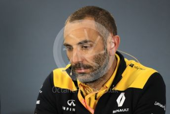 World © Octane Photographic Ltd. Formula 1 - Australian GP – Friday FIA Team Press Conference. Cyril Abiteboul - Managing Director of Renault Sport Racing Formula 1 Team. Albert Park, Melbourne, Australia. Friday 15th March 2019