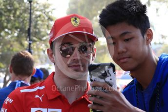 World © Octane Photographic Ltd. Formula 1 – Australian GP Paddock. Scuderia Ferrari SF90 – Charles Leclerc. Saturday 16th Melbourne, Australia. Saturday 16th March 2019.