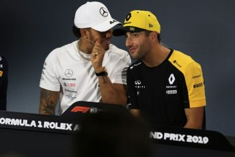 World © Octane Photographic Ltd. Formula 1 - Australian GP Thursday FIA Driver Press Conference. Mercedes AMG Petronas Motorsport AMG F1 W10 EQ Power+ - Lewis Hamilton and Renault Sport F1 Team RS19 – Daniel Ricciardo. Thursday 14th Melbourne, Australia. Thursday 14th March 2019