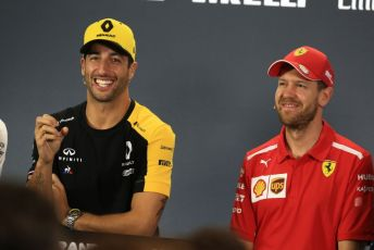 World © Octane Photographic Ltd. Formula 1 - Australian GP Thursday FIA Driver Press Conference. Renault Sport F1 Team RS19 – Daniel Ricciardo, and Scuderia Ferrari SF90 – Sebastian Vettel. Thursday 14th Melbourne, Australia. Thursday 14th March 2019