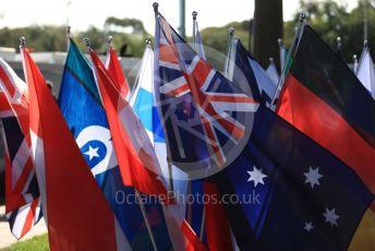 World © Octane Photographic Ltd. Formula 1 – Australian GP national flags. Thursday 14th Melbourne, Australia. Thursday 14th March 2019.