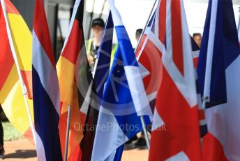 World © Octane Photographic Ltd. Formula 1 – Australian GP national flags. Thursday 14th Melbourne, Australia. Thursday 14th March 2019.