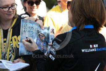 World © Octane Photographic Ltd. Formula 1 - Australian GP - Wednesday. Claire Williams - Deputy Team Principal of ROKiT Williams Racing. Albert Park, Melbourne, Australia. Thursday 14th March 2019