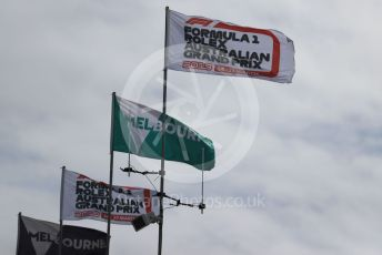 World © Octane Photographic Ltd. Formula 1 – Australian GP event flags.  Albert Park, Melbourne, Australia. Wednesday 13th March 2019.