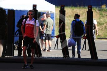 World © Octane Photographic Ltd. Formula 1 - Austrian GP. Paddock. Marcus Ericsson - brand ambassador and third driver. Red Bull Ring, Spielberg, Styria, Austria. Thursday 27th June 2019.