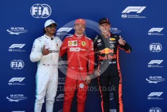 World © Octane Photographic Ltd. Formula 1 – Austrian GP - Qualifying. Scuderia Ferrari SF90 – Charles Leclerc, Mercedes AMG Petronas Motorsport AMG F1 W10 EQ Power+ - Lewis Hamilton and Aston Martin Red Bull Racing RB15 – Max Verstappen. Red Bull Ring, Spielberg, Styria, Austria. Saturday 29th June 2019.