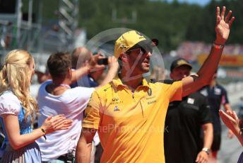 World © Octane Photographic Ltd. Formula 1 – Austrian GP - Drivers Parade. Renault Sport F1 Team RS19 – Daniel Ricciardo. Red Bull Ring, Spielberg, Styria, Austria. Sunday 30th June 2019
