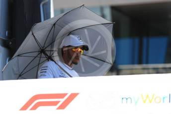 World © Octane Photographic Ltd. Formula 1 – Austrian GP - Drivers Parade. Mercedes AMG Petronas Motorsport AMG F1 W10 EQ Power+ - Lewis Hamilton. Red Bull Ring, Spielberg, Styria, Austria. Sunday 30th June 2019