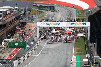 World © Octane Photographic Ltd. Formula 1 – Austrian GP. The Grid . Red Bull Ring, Spielberg, Styria, Austria. Sunday 30th June 2019