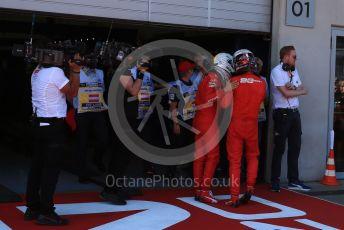 World © Octane Photographic Ltd. Formula 1 – Austrian GP - Podium. Scuderia Ferrari SF90 – Charles Leclerc and Sebastian Vettel. Red Bull Ring, Spielberg, Styria, Austria. Sunday 30th June 2019