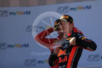 World © Octane Photographic Ltd. Formula 1 – Austrian GP - Podium. Aston Martin Red Bull Racing RB15 – Max Verstappen. Red Bull Ring, Spielberg, Styria, Austria. Sunday 30th June 2019