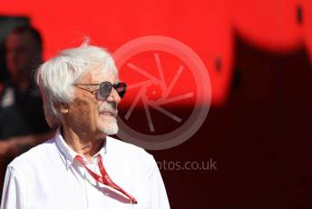 World © Octane Photographic Ltd. Formula 1 - Austrian GP - Paddock. Bernie Ecclestone. Silverstone Circuit, Towcester, Northamptonshire. Sunday 14th July 2019.