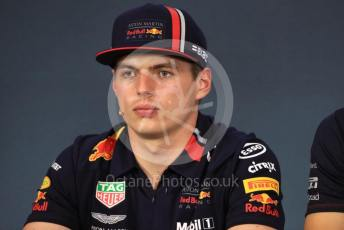 World © Octane Photographic Ltd. Formula 1 – Austrian GP - Paddock. FIA Drivers Press Conference. Aston Martin Red Bull Racing RB15 – Max Verstappen. Red Bull Ring, Spielberg, Styria, Austria. Thursday 27th June 2019.