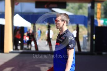 World © Octane Photographic Ltd. Formula 1 – Austrian GP - Paddock. Scuderia Toro Rosso STR14 – Daniil Kvyat. Red Bull Ring, Spielberg, Styria, Austria. Thursday 27th June 2019.
