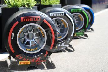 World © Octane Photographic Ltd. Formula 1 – Austrian GP - Paddock. Pirelli tyre selection. Red Bull Ring, Spielberg, Styria, Austria. Thursday 27th June 2019.