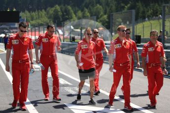 World © Octane Photographic Ltd. Formula 1 – Austrian GP - Pit Lane. Scuderia Ferrari SF90 – Sebastian Vettel. Red Bull Ring, Spielberg, Styria, Austria. Thursday 27th June 2019.