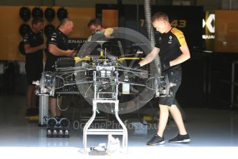 World © Octane Photographic Ltd. Formula 1 – Austrian GP - Pit Lane. Renault Sport F1 Team RS19. Red Bull Ring, Spielberg, Styria, Austria. Thursday 27th June 2019.