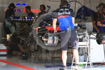 World © Octane Photographic Ltd. Formula 1 – Austrian GP - Pit Lane. Scuderia Toro Rosso STR14. Red Bull Ring, Spielberg, Styria, Austria. Thursday 27th June 2019.