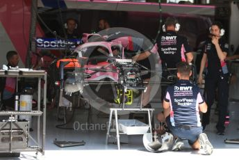 World © Octane Photographic Ltd. Formula 1 – Austrian GP - Pit Lane. SportPesa Racing Point RP19. Red Bull Ring, Spielberg, Styria, Austria. Thursday 27th June 2019.