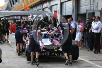 World © Octane Photographic Ltd. Formula 1 – Austrian GP - Paddock. SportPesa Racing Point RP19. Red Bull Ring, Spielberg, Styria, Austria. Thursday 27th June 2019.