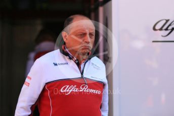 World © Octane Photographic Ltd. Formula 1 - Winter Testing - Test 1 - Day 1. Frederic Vasseur – Team Principal and CEO of Alfo Romeo Racing. Circuit de Barcelona-Catalunya. Monday 18th February 2019