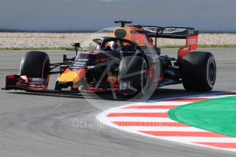 World © Octane Photographic Ltd. Formula 1 – Winter Testing - Test 1 - Day 1. Aston Martin Red Bull Racing RB15 – Max Verstappen. Circuit de Barcelona-Catalunya. Monday 18th February 2019.