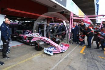 World © Octane Photographic Ltd. Formula 1 – Winter Testing - Test 1 - Day 1. SportPesa Racing Point RP19 - Sergio Perez. Circuit de Barcelona-Catalunya. Monday 18th February 2019.