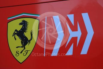 World © Octane Photographic Ltd. Formula 1 – Winter Testing - Test 1 - Day 1. Scuderia Ferrari Mission Winnow logo. Circuit de Barcelona-Catalunya. Monday 18th February 2019.
