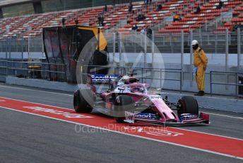 World © Octane Photographic Ltd. Formula 1 – Winter Testing - Test 1 - Day 2. SportPesa Racing Point RP19 – Lance Stroll. Circuit de Barcelona-Catalunya. Tuesday 19th February 2019.