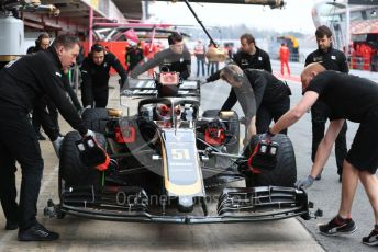 World © Octane Photographic Ltd. Formula 1 – Winter Testing - Test 1 - Day 3. Rich Energy Haas F1 Team VF19 – Pietro Fittipaldi. Circuit de Barcelona-Catalunya. Wednesday 20th February 2019.