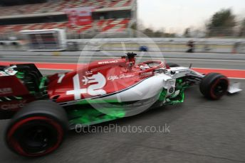 World © Octane Photographic Ltd. Formula 1 – Winter Testing - Test 1 - Day 3. Alfa Romeo Racing C38 – Kimi Raikkonen. Circuit de Barcelona-Catalunya. Wednesday 20th February 2019.