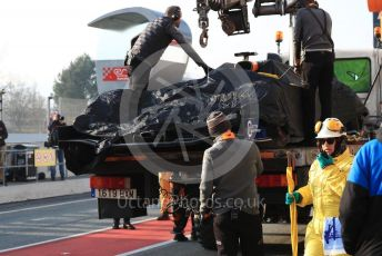 World © Octane Photographic Ltd. Formula 1 – Winter Testing - Test 1 - Day 4. McLaren MCL34 – Lando Norris car gets returned to the pit lane. Circuit de Barcelona-Catalunya. Thursday 21st February 2019.