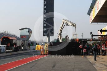 World © Octane Photographic Ltd. Formula 1 – Winter Testing - Test 1 - Day 4. McLaren MCL34 – Lando Norris car gets returned to the pit lane. Circuit de Barcelona-Catalunya. Thursday 21st February 2019.