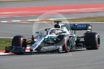 World © Octane Photographic Ltd. Formula 1 – Winter Testing - Test 1 - Day 4. Mercedes AMG Petronas Motorsport AMG F1 W10 EQ Power+ - Lewis Hamilton. Circuit de Barcelona-Catalunya. Thursday 21st February 2019