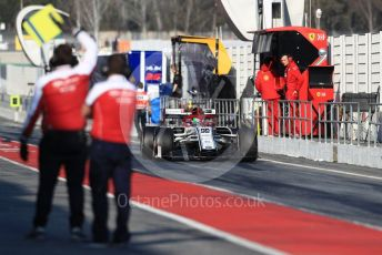 World © Octane Photographic Ltd. Formula 1 – Winter Testing - Test 1 - Day 4. Alfa Romeo Racing C38 – Antonio Giovinazzi. Circuit de Barcelona-Catalunya. Thursday 21st February 2019.